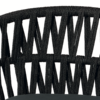 Kép 4/4 - Tahiti kerti karosszék szürke/fekete