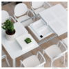 Kép 2/2 - Nardi Libeccio fehér bővíthető kerti asztal