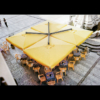 Kép 4/6 - Galileo  fa vázas napernyő  6 x 6 m