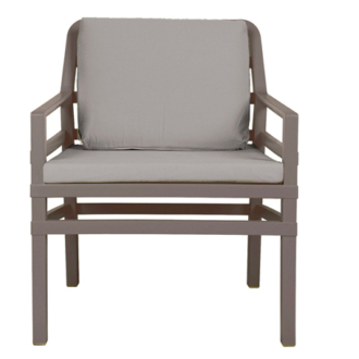 Aria Galambszürke fotel - Galambszürke párnákkal