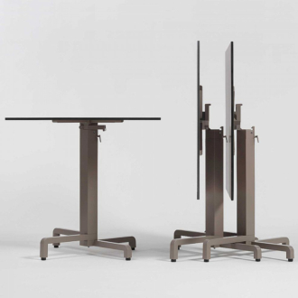 Nardi HPL 90x90cm galambszürke kültéri asztallap