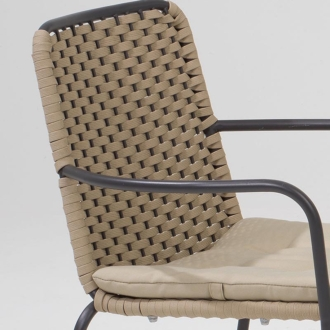 Palma zsinóros kerti szék szürkés-barna