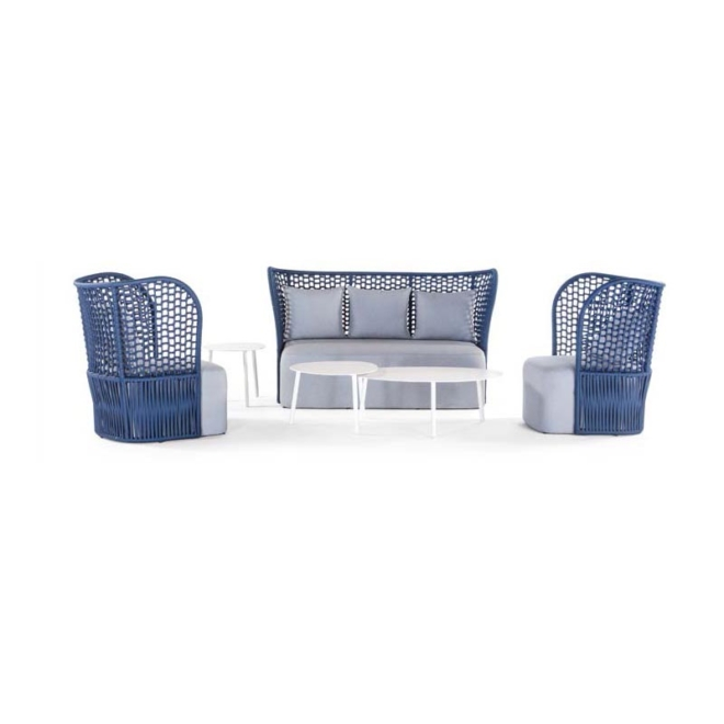 Milos kerti ülőgarnitúra kék szürke