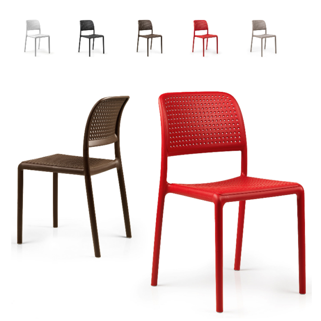 Nardi Bora Bistrot rakásolható kerti műanyag szék több színben