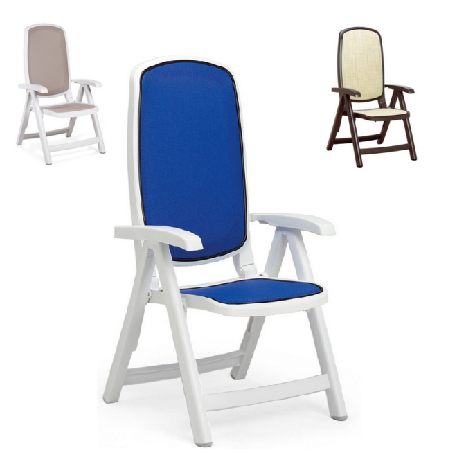 Nardi Delta összecsukható műanyag kerti szék több színben
