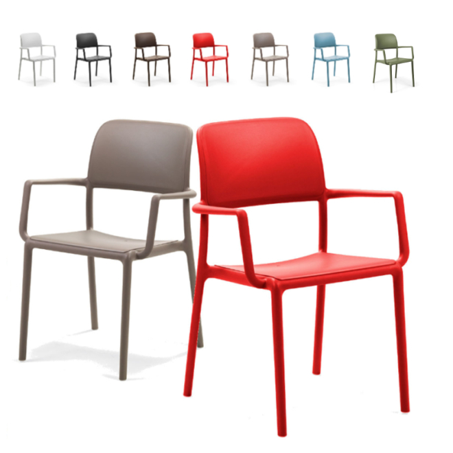 Nardi Riva kerti műanyag rakásolható szék több színben