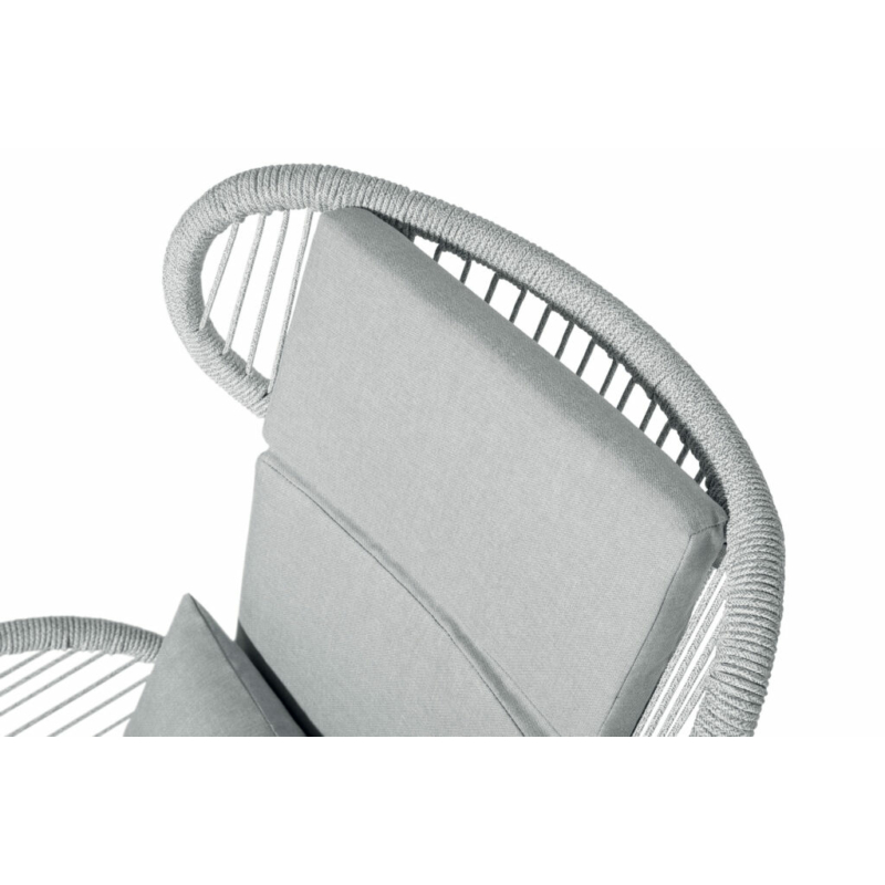 Fiji kerti fotel fehér/szürke