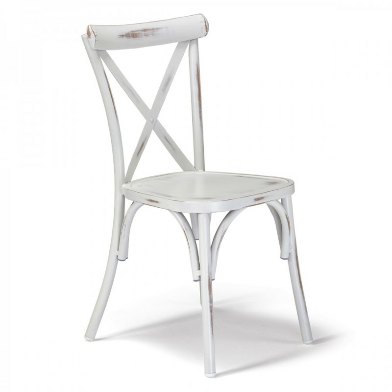 GS 972 szék antik fehér szín.
