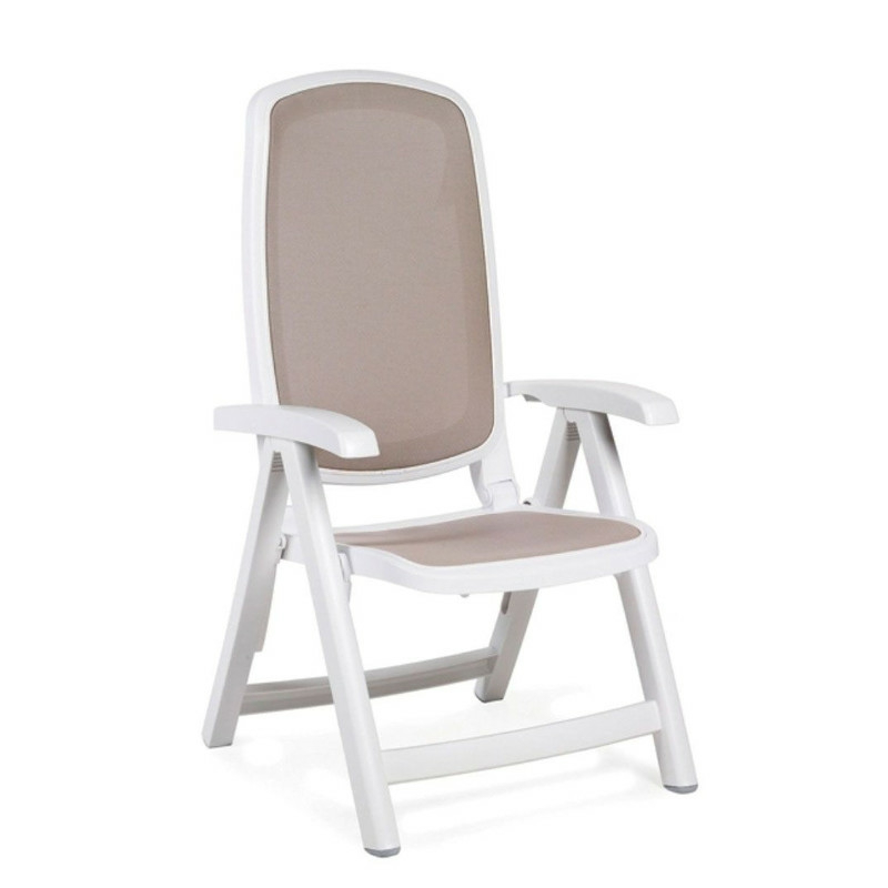 Nardi Delta fotel fehér-galamb szürke színben