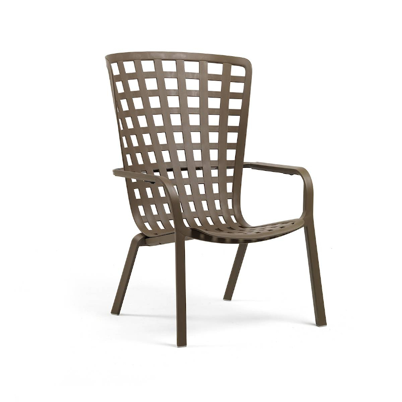 Nardi Folio kerti műanyag rakásolható szék dohány barna színben
