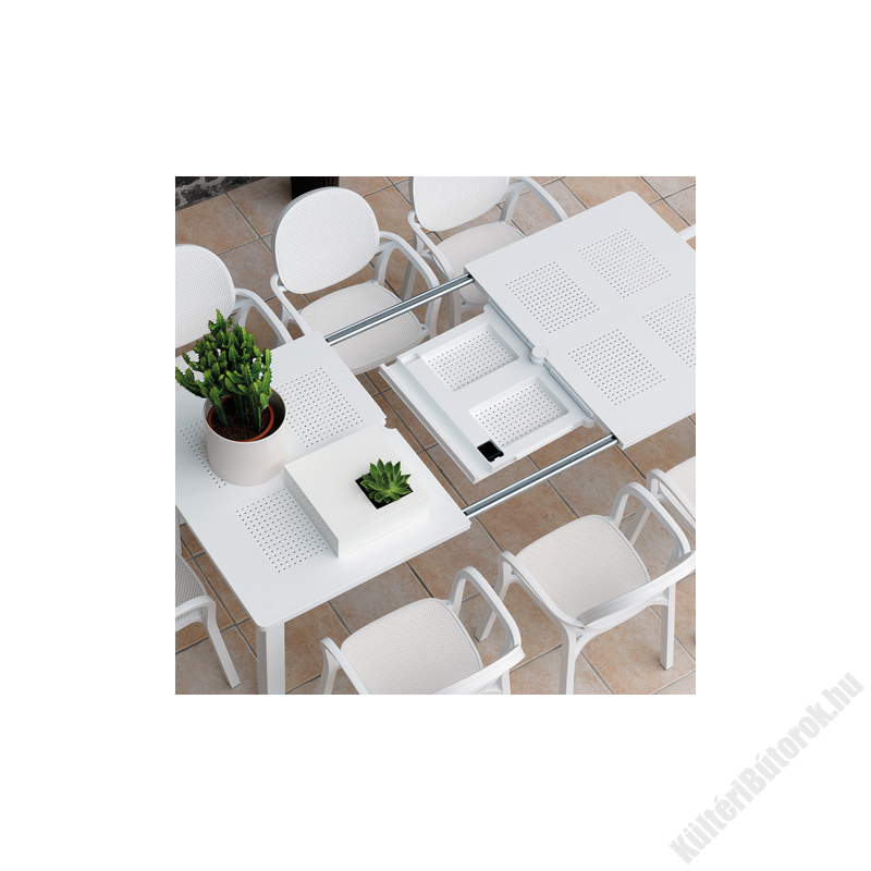 Nardi Libeccio fehér bővíthető kerti asztal